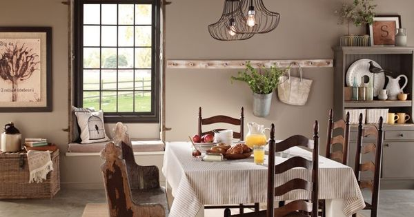 Love this room behr marquee eiffel for you laundry room for Dining room colour inspiration
