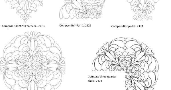 Wasatch Digital Quilting Designs : Computerized digitized compass quilt patterns for longarm quilting machines wasatch quilting ...