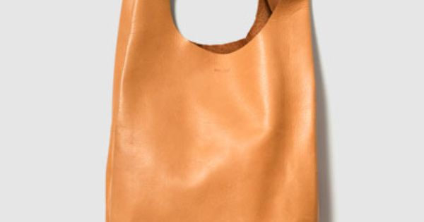 Baggu Leather Small Bag. Simplicity perfected. love baggu! (reminds me of a