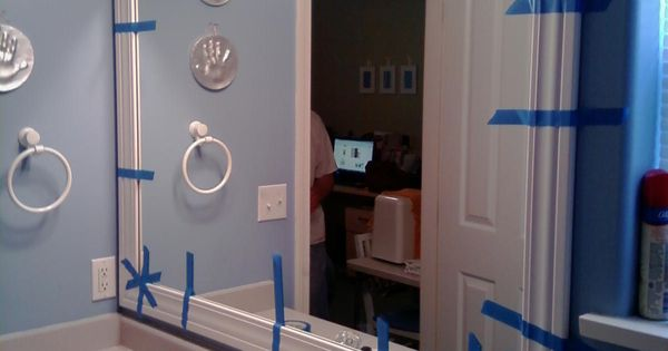 This Thrifty House: Framed Bathroom Mirror #howto # ...
