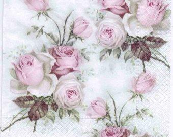 Rosa Colecci/ón de papel impreso Decopatch para Collage