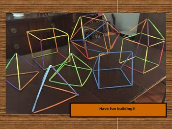 Straw Connectors for building 3D shapes | 3d shapes, Straw crafts ...