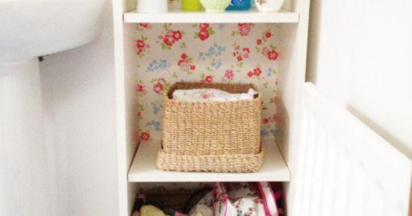 heart handmade uk cath kidston wallpaper backed ikea billy cabinet
