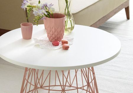 Paniers en fil tables basses and fil on pinterest for Table basse panier