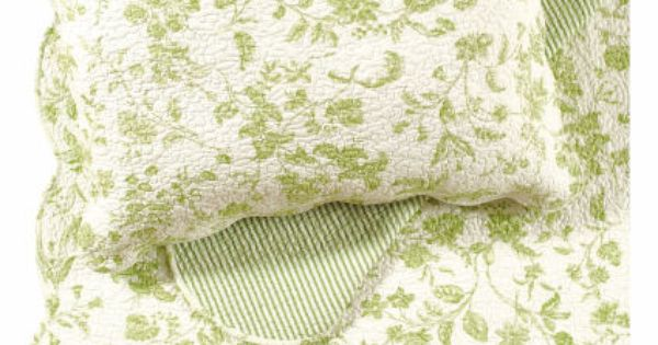 Williamsburg Brighton Green Toile Quilts And Bedding From