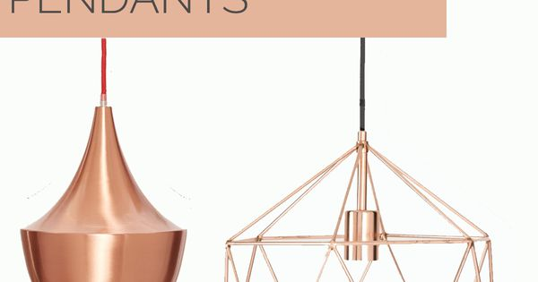 Affordable Copper Pendant Lighting Options  조명, 조명 디자인 및 침실 ...