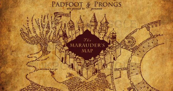 The marauders map print, Harry Potter map. A famous map ...