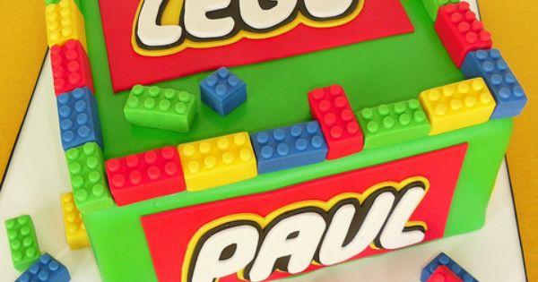 Lego birthday cake idea by www.cakeboxsoc.com lego cake
