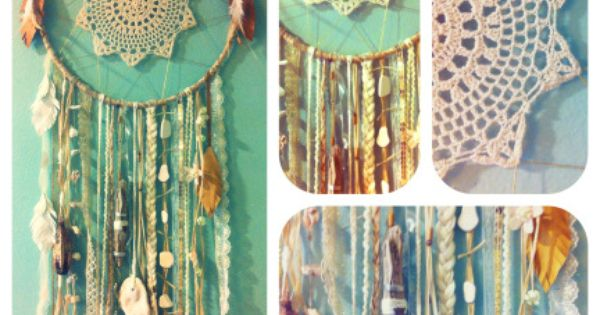 lace dream catcher! need to make this to chase away the bad