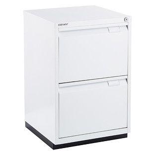 Bisley White Premium 2 Drawer Locking Filing Cabinet Filing Cabinet Drawers Storage