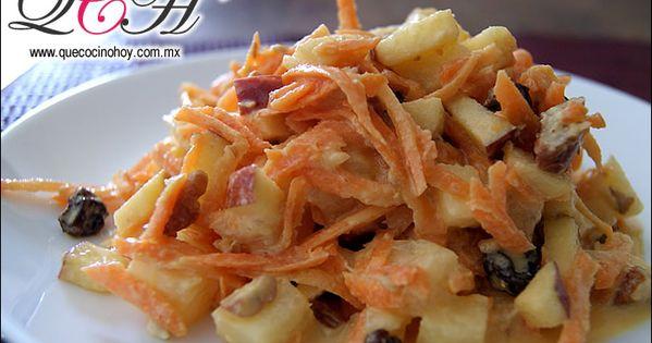 Ensalada de zanahoria zanahorias manzana pi a en - Ensalada de zanahorias ...