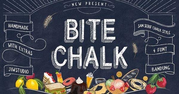 BiteChalk Typeface – chalk concepts for menuboards at cafe or restaurant and wedding