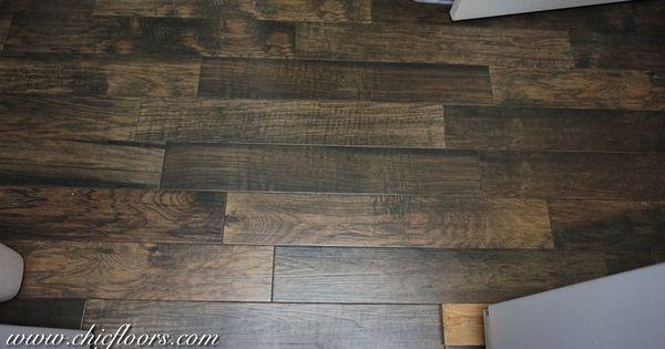 Beautiful Wood Look Tile By Shaw Hacienda Color Walnut Wood Look Tile Wood Look Tile Floor Beautiful Wood
