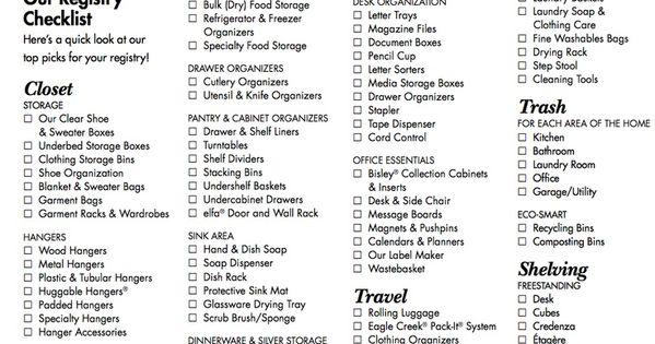 Amazing Wedding Registry Checklist httpwwwikuzoweddingcom