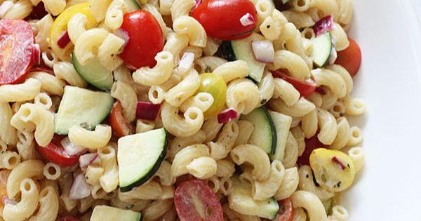 Summer Macaroni Salad with Tomatoes and Zucchini   Summer Macaroni ...