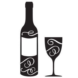 Wine Bottle Glass Silhouette Design Stencils Design Store