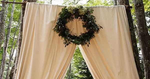 curtain backdrop, simple and easy