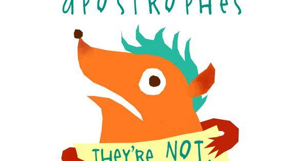 Respect Apostrophes Writing Grammar Pinterest