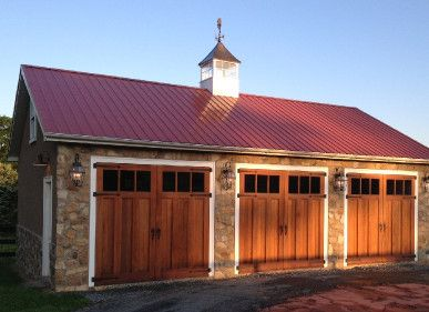 Hinged Swing Out Carriage Doors Made By Evergreen Carriage Doors Carriage House Doors Metal Roof Carriage Doors