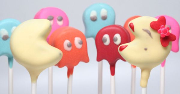 Pac Man Cake Pops Game party