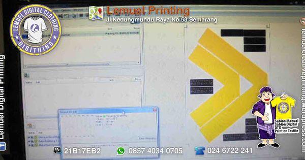 Custom Sablon Digital Polyflex Printable Berkualitas By Digithing