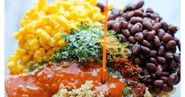 Quinoa Enchilada Casserole -- A lightened-up, healthy enchilada bake chock full of quinoa, black beans, and cheesy goodness!