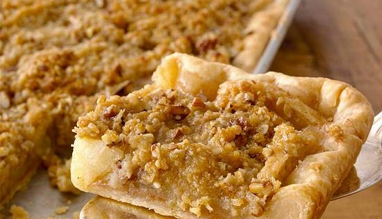 Crumb Topped Apple Slab Pie (cross between apple pie & apple crisp)