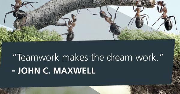 Teamwork Makes The Dream Work. -John C. Maxwell