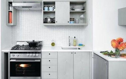 Cocina peque a en blanco los muebles de cocina - Muebles de cocina pequena ...