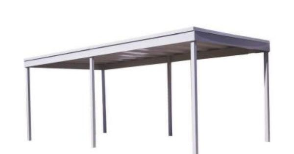 Arrow 10 Ft W X 20 Ft D Vinyl Coated Galvanized Steel Carport Car Canopy And Shelter Cp1020 The Home Depot Steel Carports Carport Designs Carport Plans