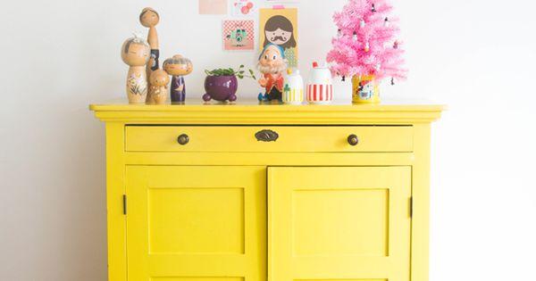 Paint a yellow cabinet for the home f r och till hemmet pinterest m bel - Yellow mobel katalog ...