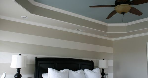 Coffered ceiling ideas painted tray ceiling in master for Coffered ceiling paint ideas