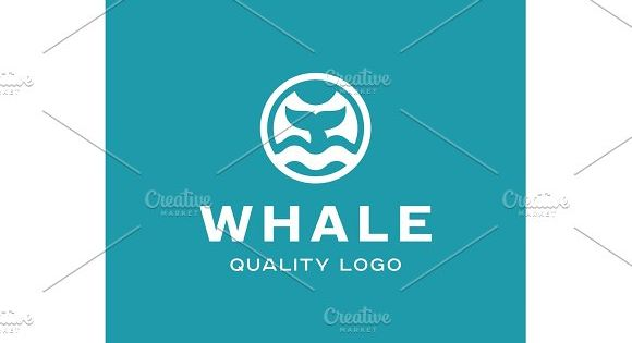 Diving with whale fin abstract sign icon vector into flat style
