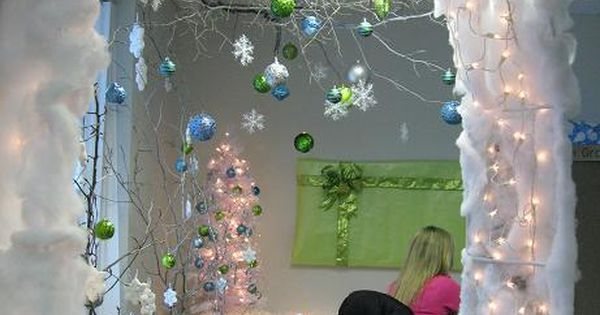Cubicles winter wonderland and cubicle ideas on pinterest
