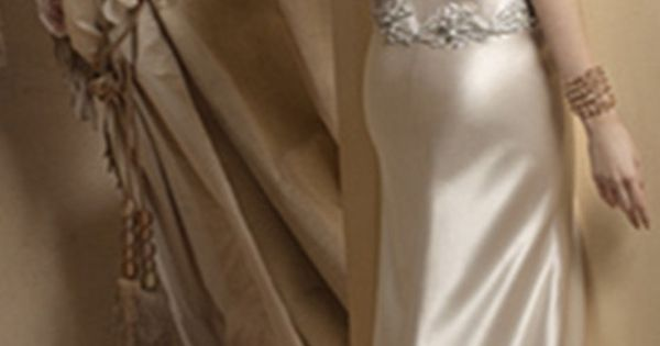 Champagne Open Back Wedding Dress For Second Wedding