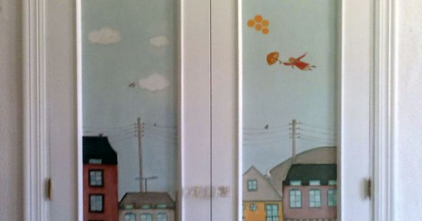 Armario empotrado pintado a mano ilustraci n propia para - Armarios pintados a mano ...