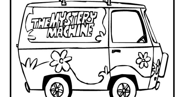 scooby doo coloring pages mystery machine coloring page