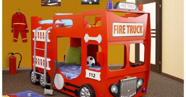 lit superposes camion de pompier kids room pinterest bomberos y bebe. Black Bedroom Furniture Sets. Home Design Ideas