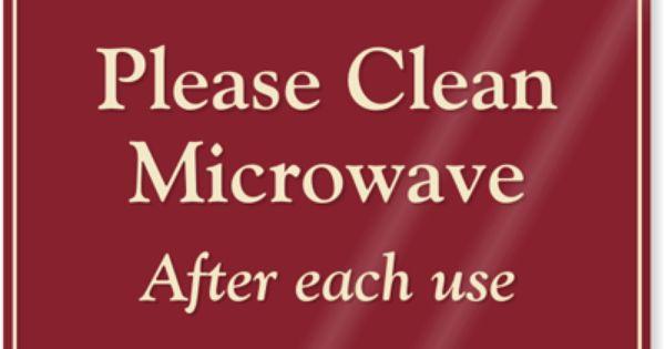 Printable Keep Breakroom Clean Signs | Please Clean ...