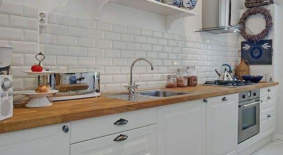 Los azulejos del metro para la cocina cocinas decoradas - Azulejo metro cocina ...