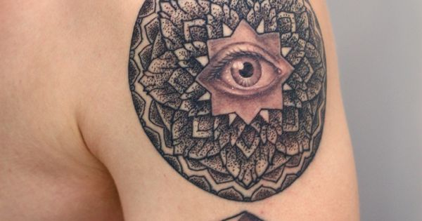 Geometric Tattoo Design with Eye | by Rob Hoskins