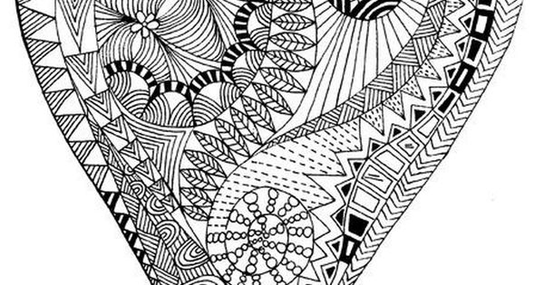 zen hearts intricate coloring page printable intricate advanced coloring pages for 7366