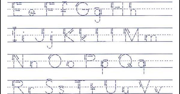 Tracing Alphabet Abc Kiddo Shelter Alphabet And