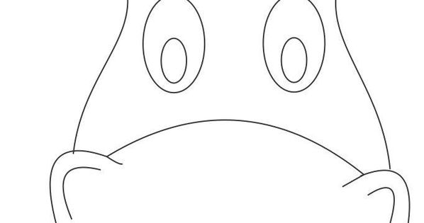 Horse mask printable coloring page