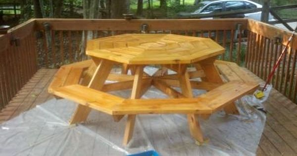 Octagon Picnic Table Do It Yourself Home Projects From