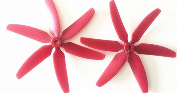 ShenStar Red 2 PCS 6-Propeller Props CW/CCW For 250 FPV ...