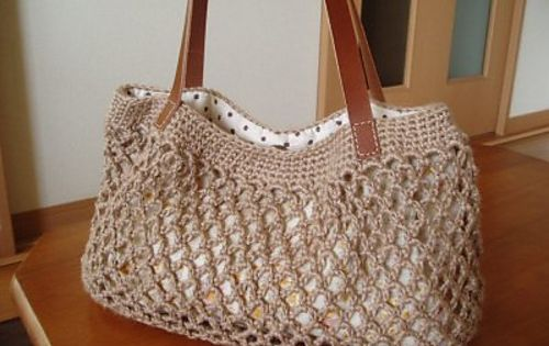 Crochet Net Bag Pattern Free : Simple Net Crochet Bag: free pattern Crochet Purse ...