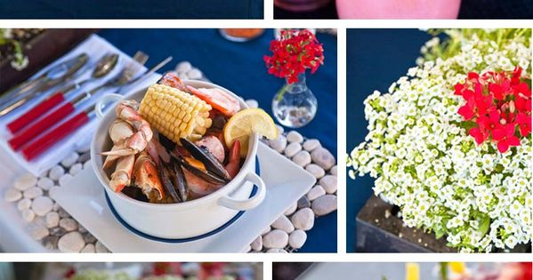 Summer seafood boil party - Individual seafood pots, lemon ...