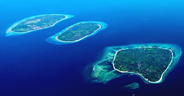 Gili Islands, off the coast of Lombok, Indonesia: Gili Air, Gili Meno,