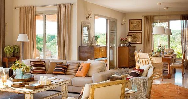 Un cortijo reinventado sal n decoraci n y hogar - Hogar del mueble ingenio ...